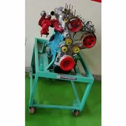 CRDI Engine Cut Section With Swiveling Stand