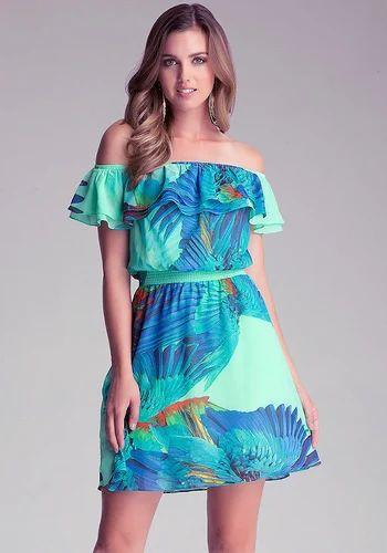 9d5a00769823 Printed Drop Shoulder Dress Tropical Print