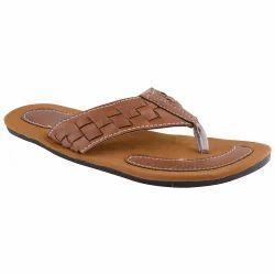 Tan Round Toe Design  Flip-Flop Slipper 221