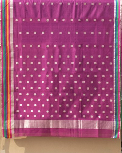 LAL10 5.5 m (separate blouse piece) Chanderi Sarees