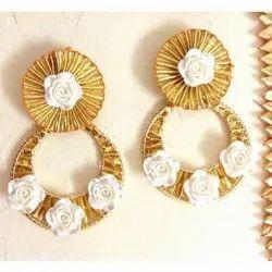 S.K Gems Party Ladies Designer Silk Thread Earrings