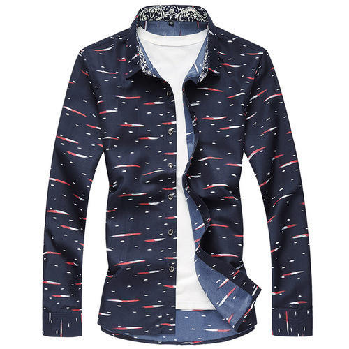 e93b60b313 JJ Sparrow Navy Blue Mens Party Wear Printed Shirt, Rs 350 /piece ...