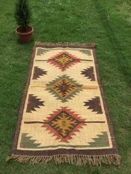 Wool Jute Rug, Traditional Kilim Rug, Exclusive Rug, Antique Rug
