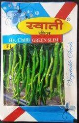 Hybrid Swati Green Slim Plus Chilli Seed, Packaging Type: Packet, Packaging Size: 10 Gram