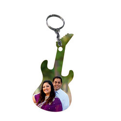 Guitar Shape Keychain