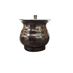 Stainless Steel Round Ghee Pot, For Home