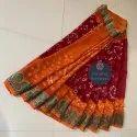 Silk Rajasthani Bandhani Sarees