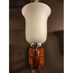 Cool White Glass And Wood Decorative Lamp Wall Light