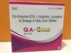 Co-Enzyme Q10, L- Arginine, Omega 3 Fatty Acid And Lycopene Tablets, 10x1x10 Packaging