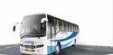 White And Blue Ashok Leyland 12m Fe Diesel Staff Bus