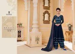 Sajawat Silk Stylish Party Wear Readymade Anarkali Suit