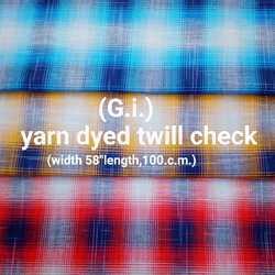 Yarn Dyed Twill Check (G.I.)