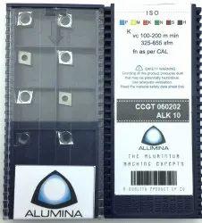 Carbide ALUMINA Aluminum Machining Inserts CCGT060202 ALK10