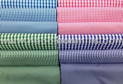 Check Cotton Shirting Fabric