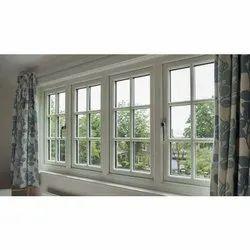 Modern White Aluminium Living Room Window, for Residential