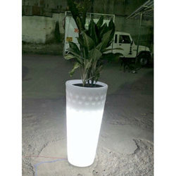 FRP LED Light Illuminating Garden Planters