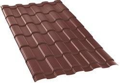 Chocolate Brown Grain Finish Ultima Espana Roofing Sheet