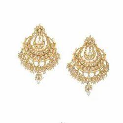 Alloy Wedding Kundan Imitation Earrings