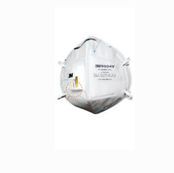 White 3M 9004V Valved Dust/Mist Respirator, AS/NZS P1