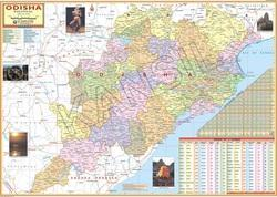 Odisha For Political State Map