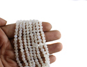 White Rainbow Round Faceted Beads