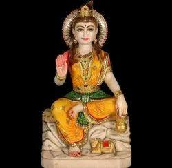 Marble Parvati Mata Statue