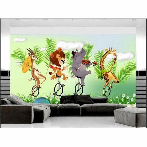 Horizontal Cartoon Printed Living Room Wallpaper Size 8 X 10 Feet Rs 110 Square Feet Id 18977305562