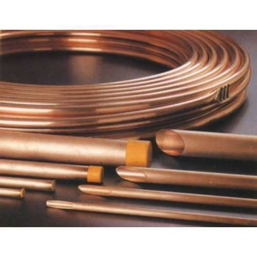 Square And Rectangular Brown EC Grade Copper Pipe, Air Condition And Refrigerator