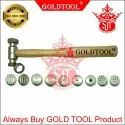 GOLD TOOL Texturing Hammer with 9 Different Tips - SRINATHJI Jewellery Tools