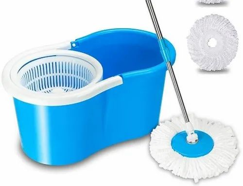 Blue Plastic Bucket Mop for Home