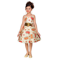 Kids Knee Length Party Frock