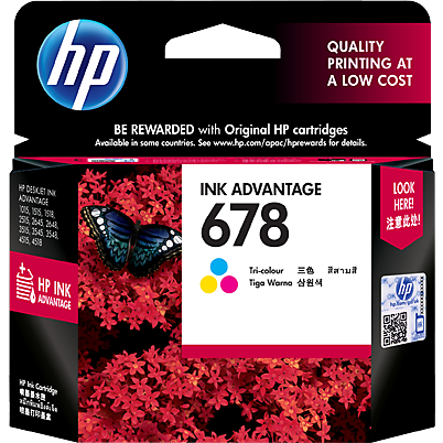Ink Type HP 678 Tri-Color Ink Cartridge - CZ108AA