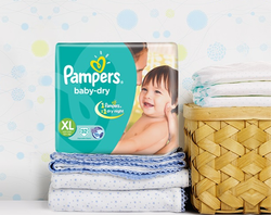 Pampers Baby Dry Diapers, Packaging Type: Packet