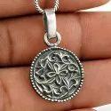 Indian God 925 Sterling Silver Pendant