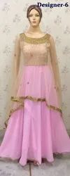 Net Ladies Party Indian Gowns Floor Length Anarkali