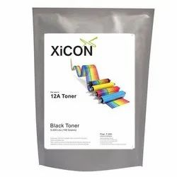 Xicon 12A Toner 100g Black Single Toner for 12A Toner 100g