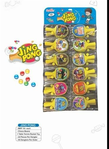 Fortune Sweet Beans Jing Pong Toy Candy, Packaging Type: Packet
