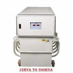 Three Phase Micro controller Oil Cooled Servo Stabilizers, For Industrial, Capacity: 15kva To 500kva