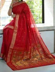 Paithani Cotton Handloom Sarees