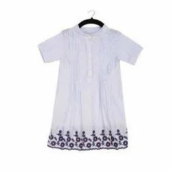 Party Wear Embroidered Kids Girls Cotton Day Dress
