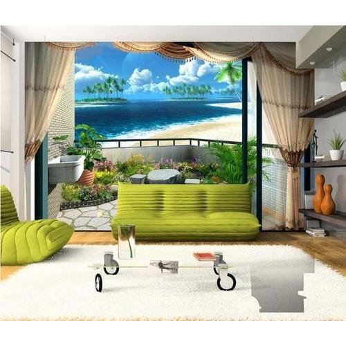 Pvc Paper Drawing Room 3d Wallpaper Rs 1500 Roll Kenisha Wall