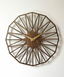 Designed Round Wooden Wall Clock