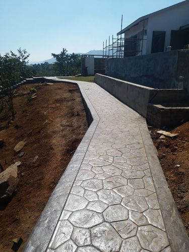 Walkway Stamped Concrete Flooring, Thickness: 15-30mm, For Outdoor, Rs 55  /square feet | ID: 13324124291
