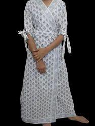 Handmade Assorted Cotton Block Printed Wrap Dress
