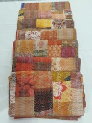 Cotton Kantha Patchwork Quilt