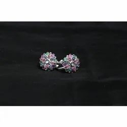 Party Wear 925 Sterling Silver Ladies Silver Diamond Ring