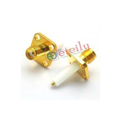 SMA Connector Female 4 Hole Panel Mount 16mm