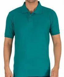 Navy Blue Cotton Mens Collar T Shirt, Packaging Type: Packet, Size: XL