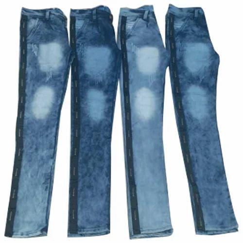 15b5ffb861 Casual Wear Faded Mens Blue Denim Jeans