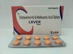 Lxver(Drotaverine HCL 80mg , Mefenamic Acid 250mg)